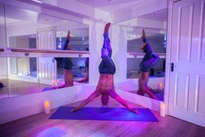 Yoga teacher, Stephane at Wellbeing 95