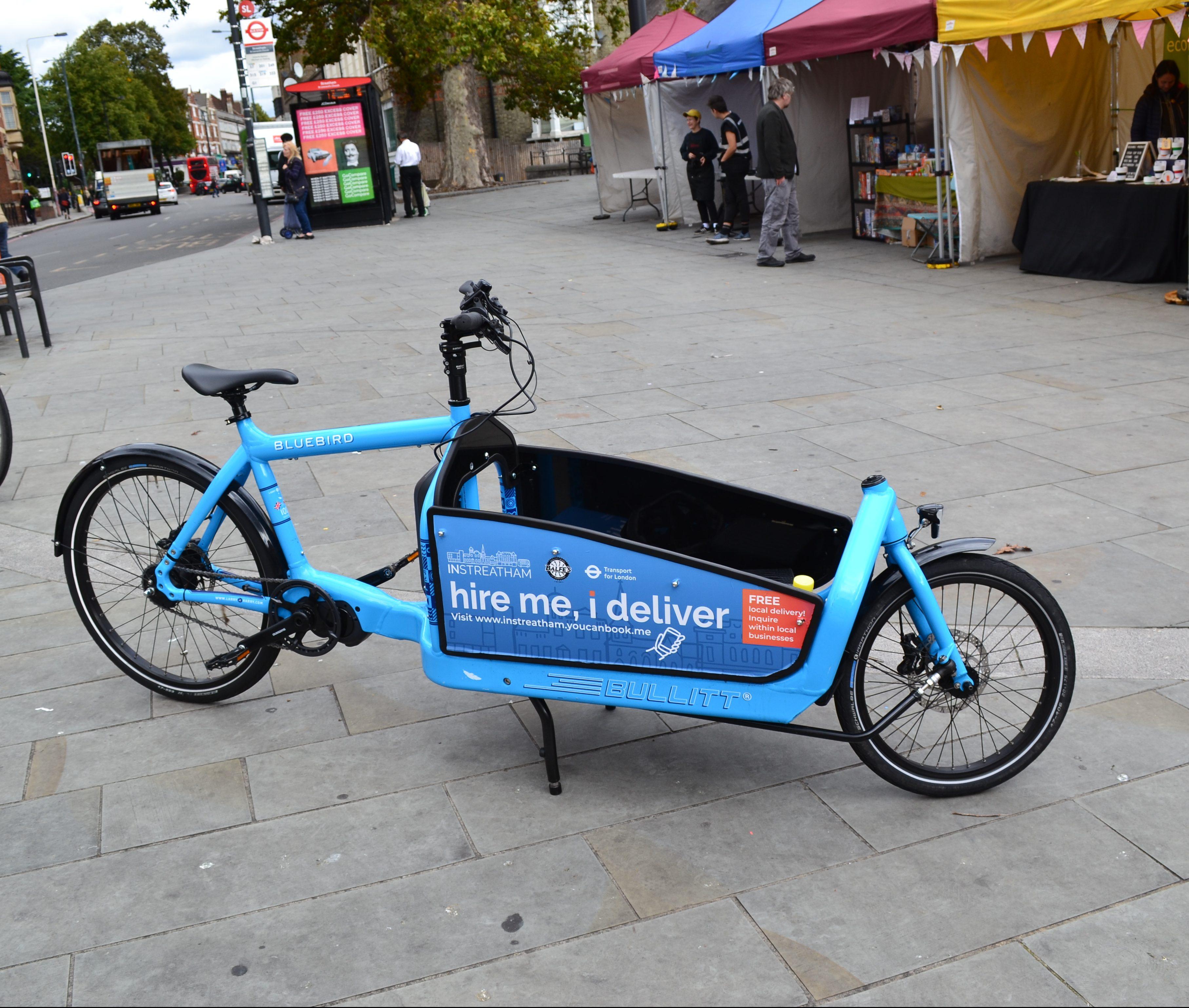 Cargo bike at Streatham market